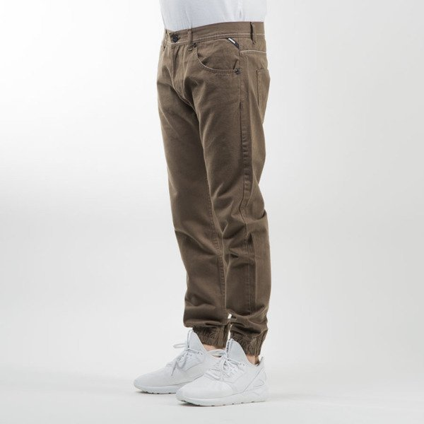 Mass Denim jogger pants Signature sneaker fit khaki