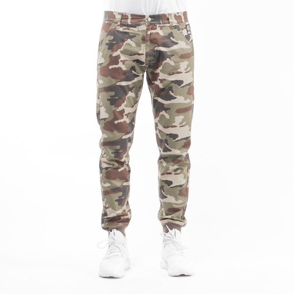 Mass Denim jogger pants chino Classics sneaker fit woodland camo light
