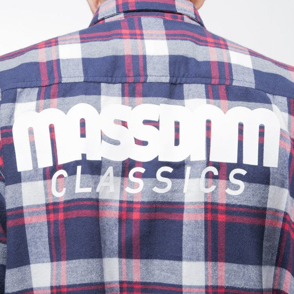 Mass Denim shirt Classics navy / red / white