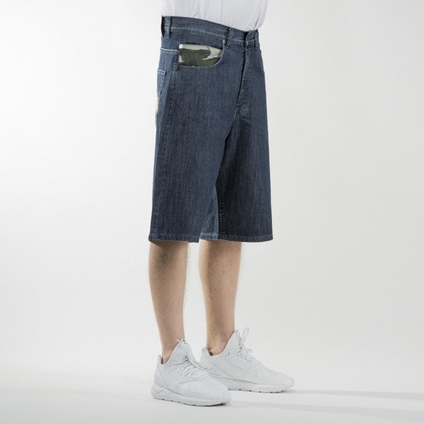 Mass Denim shorts jeans Battle baggy fit dark blue