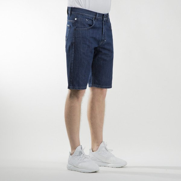 Mass Denim shorts jeans Dope straight fit dark blue