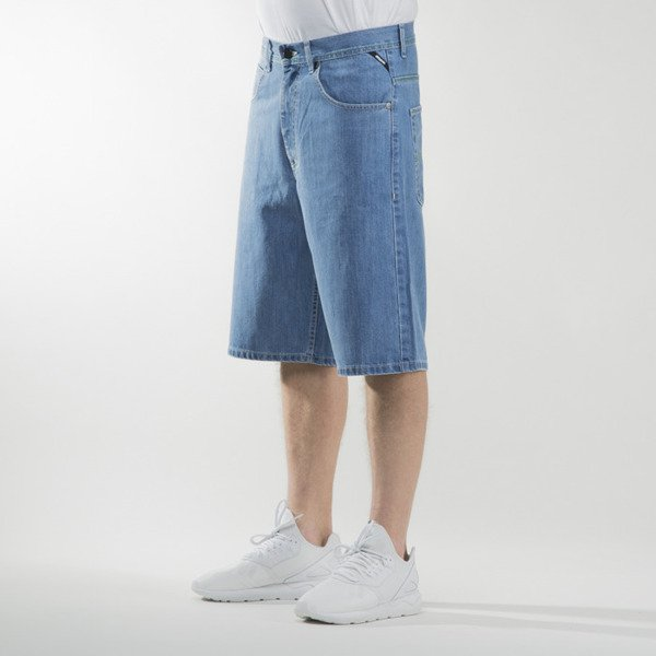 Mass Denim shorts jeans Outsized baggy fit light blue