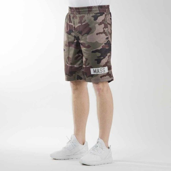 Mass Denim sportshorts Battle mesh woodland camo
