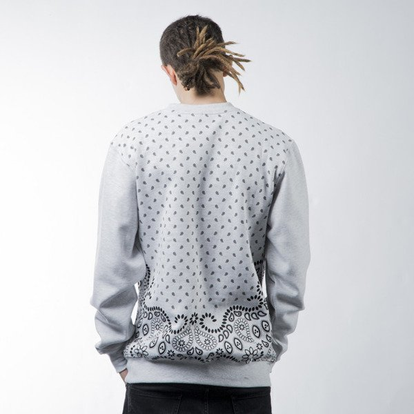 Mass Denim sweatshirt  Bandana crewneck white BLAKK