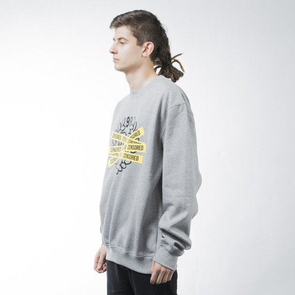 Mass Denim sweatshirt Censored crewneck light heather grey