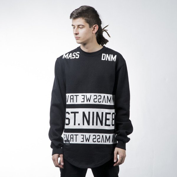 Mass Denim sweatshirt Dyme crewneck long fit black BLAKK