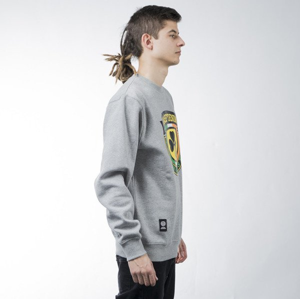 Mass Denim sweatshirt Fine Malt crewneck light heather grey