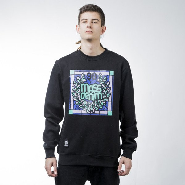 Mass Denim sweatshirt Glassy crewneck black