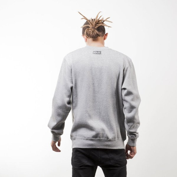 Mass Denim sweatshirt Pocket Cover crewneck light heather grey