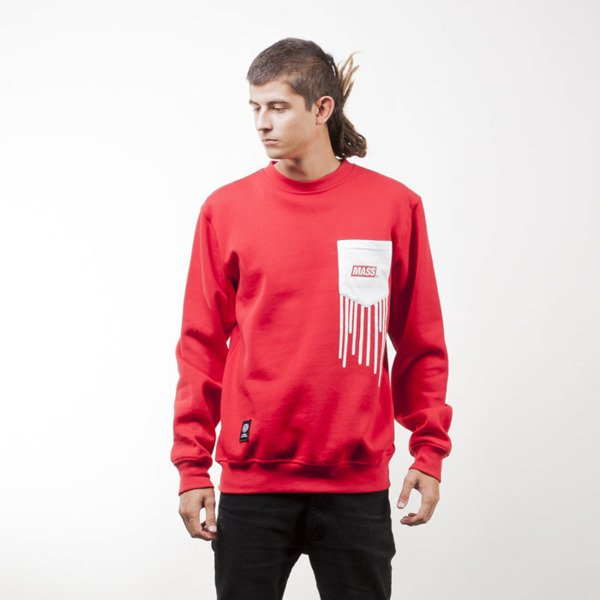 Mass Denim sweatshirt Pocket Cover crewneck red