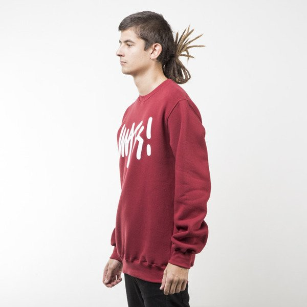 Mass Denim sweatshirt Signature crewneck claret