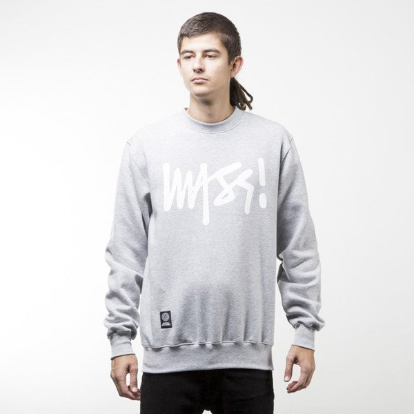 Mass Denim sweatshirt Signature crewneck light heather grey