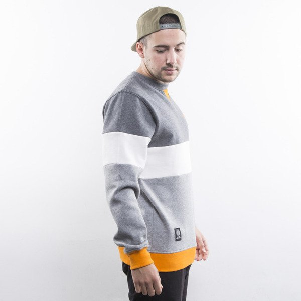 Mass Denim sweatshirt Stripes crewneck dark heather grey