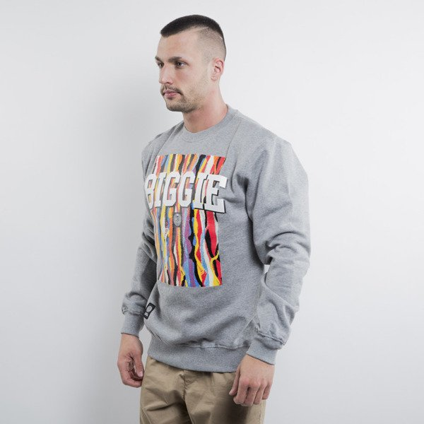 Mass Denim sweatshirt crewneck Biggie light heather grey