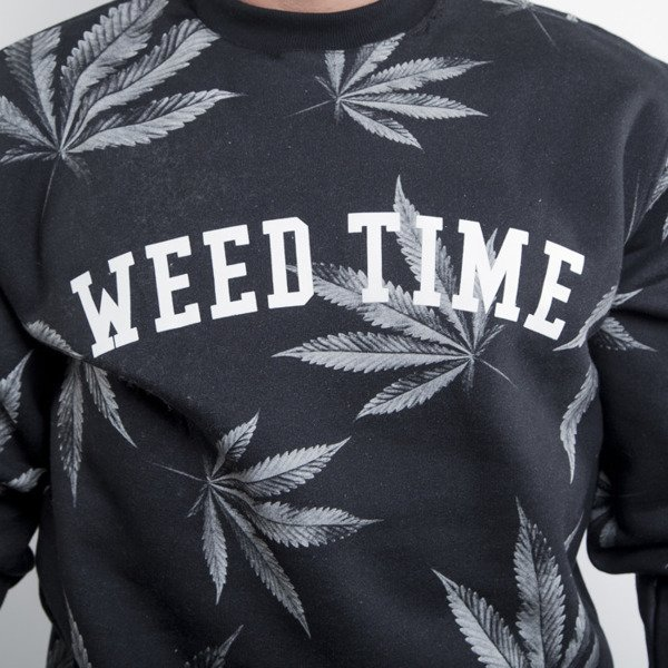 Mass Denim sweatshirt crewneck Blvck Weed black