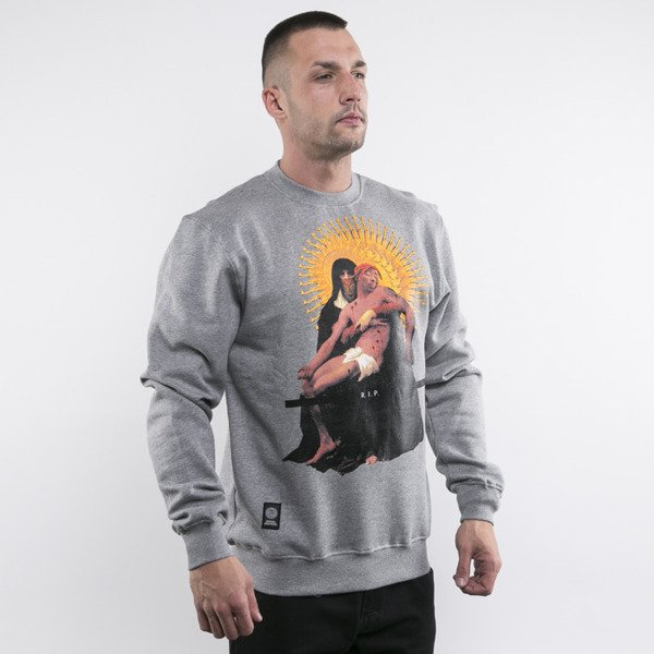 Mass Denim sweatshirt crewneck Pieta light heather grey