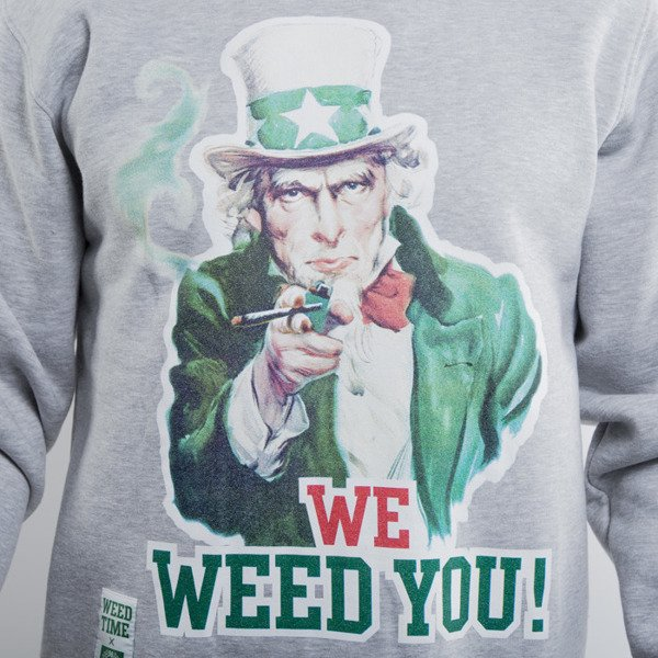 Mass Denim sweatshirt crewneck We Weed You light heather grey