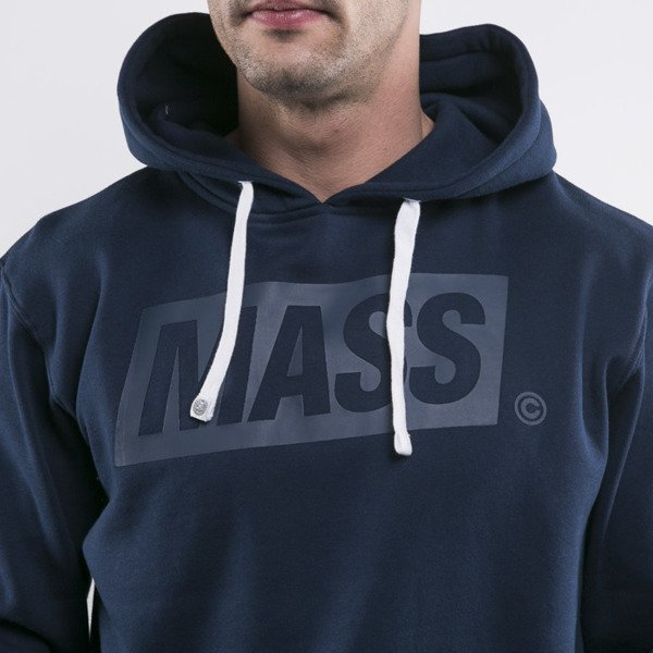 Mass Denim sweatshirt hoody Three D navy