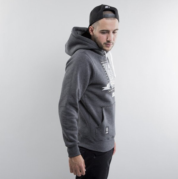 Mass Denim sweatshirts Capitol Hoody dark heather grey