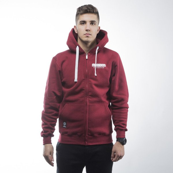 Mass Denim sweatshirts Classics zip hoody claret