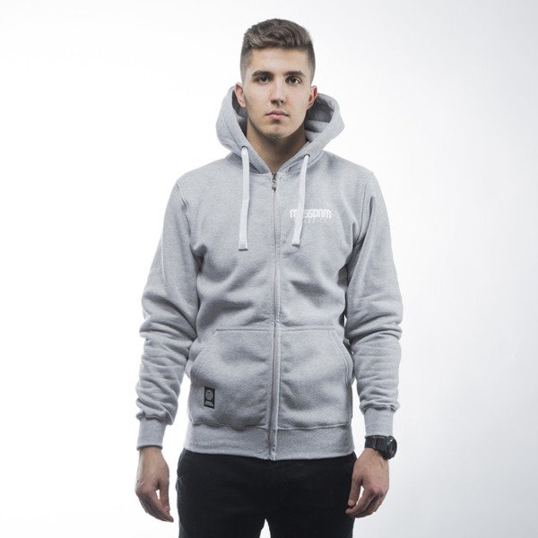 Mass Denim sweatshirts Classics zip hoody light heather grey