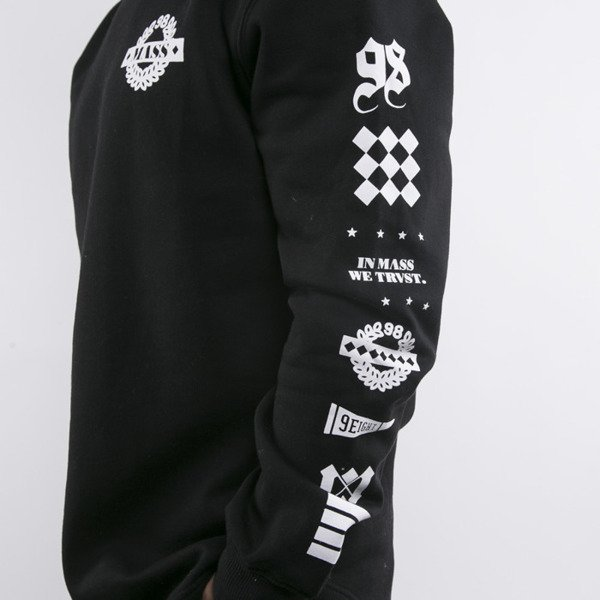 Mass Denim sweatshirts Side long fit black BLAKK