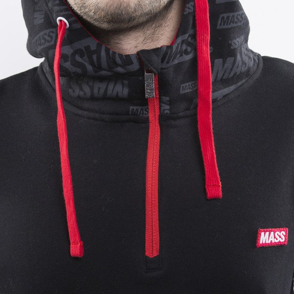 Mass Denim sweatshirts The Logos Hoody Half Zip black