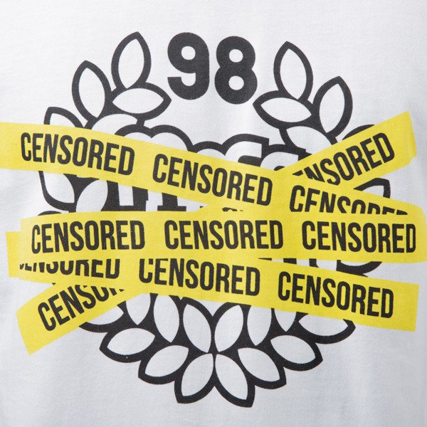 Mass Denim t-shirt Censored white