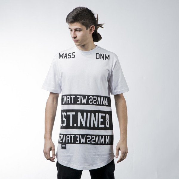 Mass Denim t-shirt Dyme long fit white BLAKK