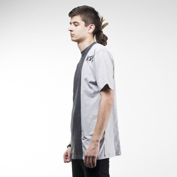 Mass Denim t-shirt Lines dark heather grey