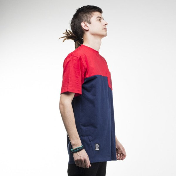 Mass Denim t-shirt Pocket Base navy / red