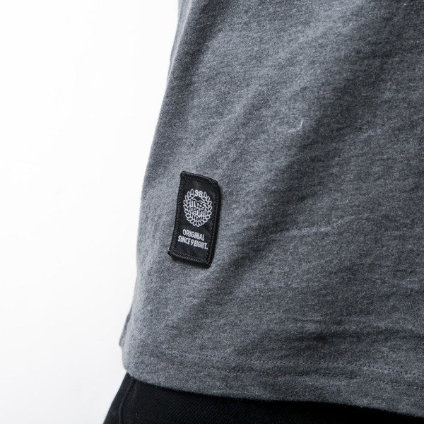Mass Denim t-shirt Pocket Signature dark heather grey