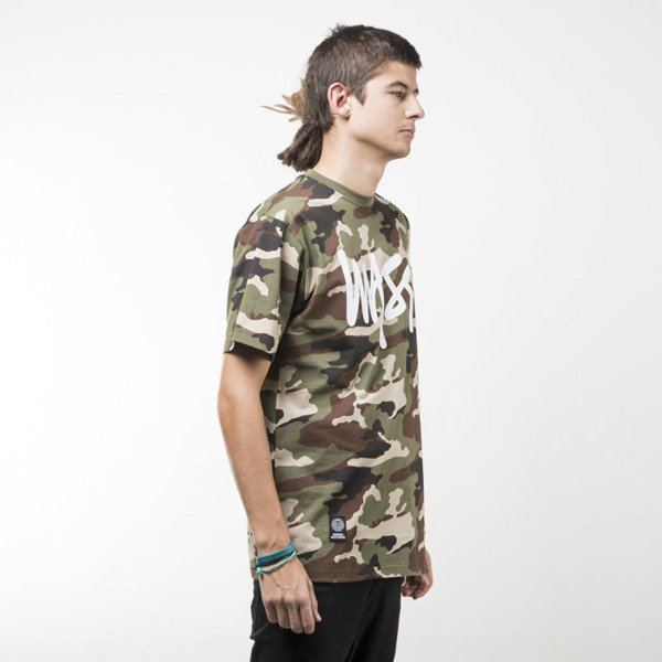 Mass Denim t-shirt Signature woodland camo