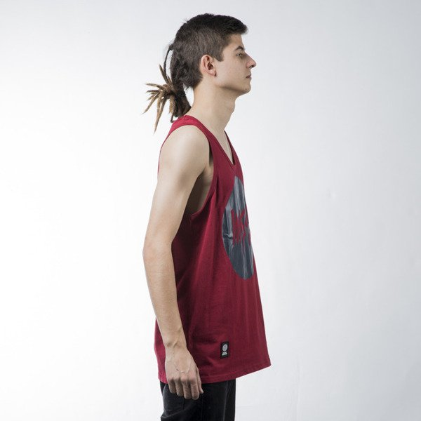 Mass Denim tank top Signature claret