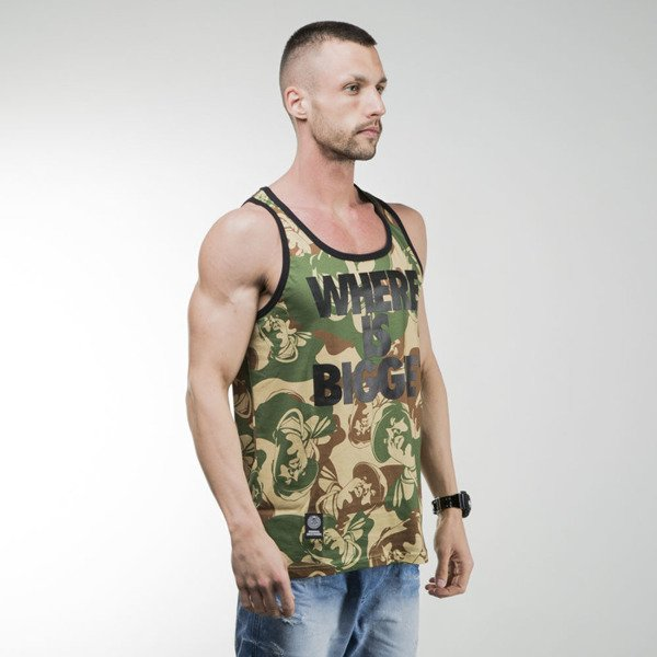 Mass Denim tank top Where is Biggie camo