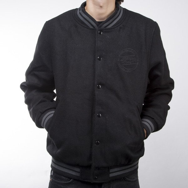 Mass Denim varsity jacket Alpha black