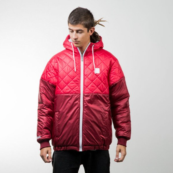 Mass Denim winter jacket Base Cut red / claret