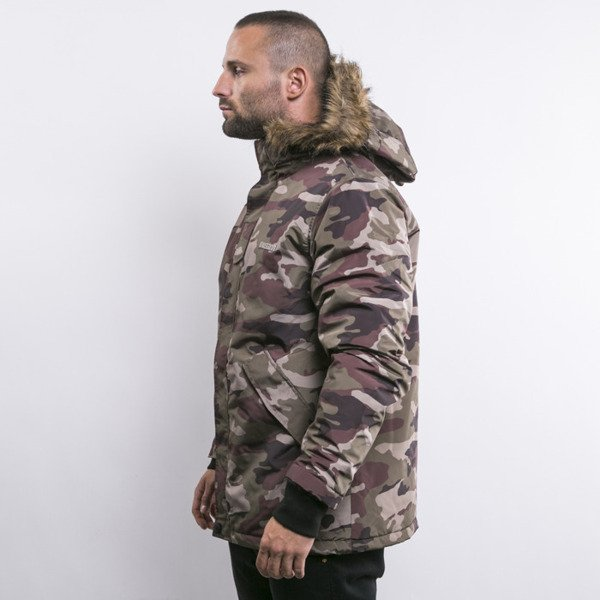 Mass Denim winter jacket Spitsbergen woodland camo