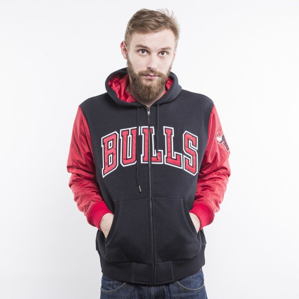 Mitchell & Ness Skill Position Jacket Chicago Bulls black / red