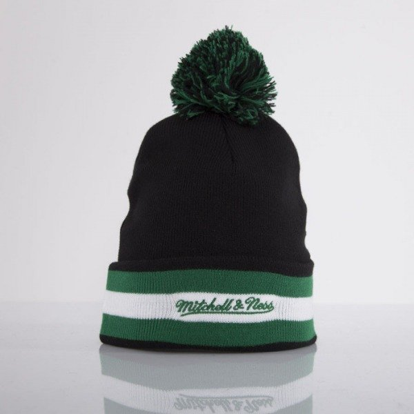 Mitchell & Ness beanie Boston Celtics black Black Out Team with bobble KN45Z