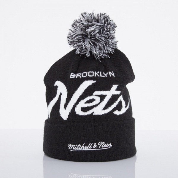 Mitchell & Ness beanie Brooklyn Nets black Special Script Knit Bobble