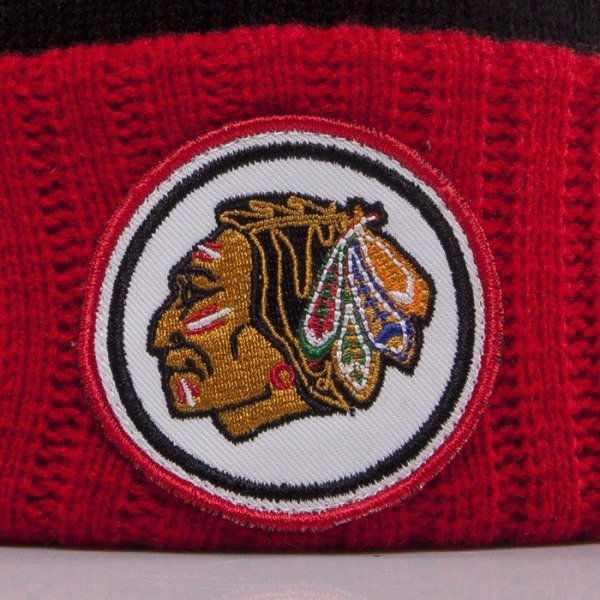 Mitchell & Ness beanie Chicago Blackhawks black High 5 KJ47Z