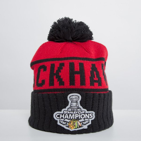 Mitchell & Ness beanie Chicago Blackhawks red Championship KS71Z
