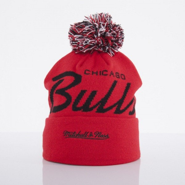 Mitchell & Ness beanie Chicago Bulls red Special Script Knit Bobble