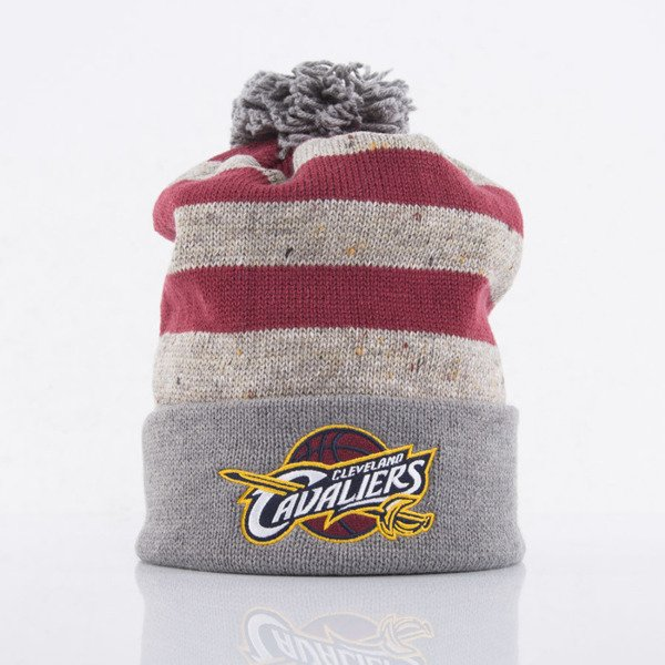 Mitchell & Ness beanie Cleveland Cavailers grey Speckled Oatmeal KP53Z