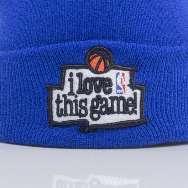 Mitchell & Ness beanie I Love This Game blue KS25Z