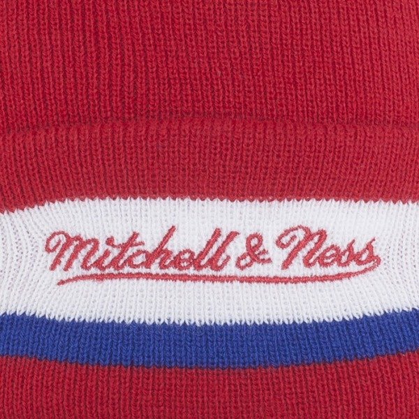 Mitchell & Ness beanie Los Angeles Clippers red / blue / white Jersey Stripe KJ61Z