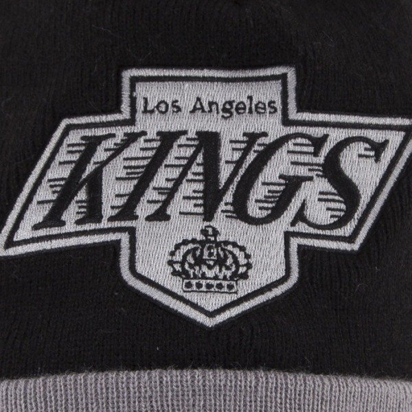 Mitchell & Ness beanie Los Angeles Kings black Jersey Stripe with bobble KC84Z