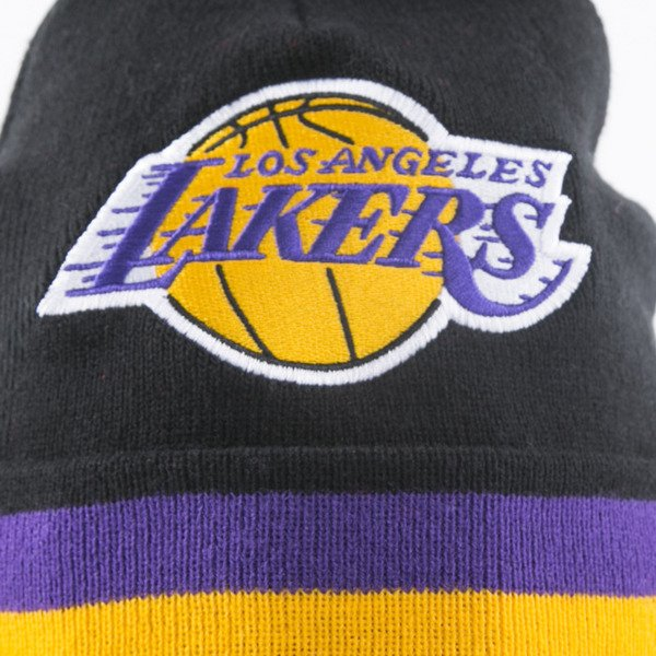 Mitchell & Ness beanie Los Angeles Lakers black Black Out Team Stripe KN45Z