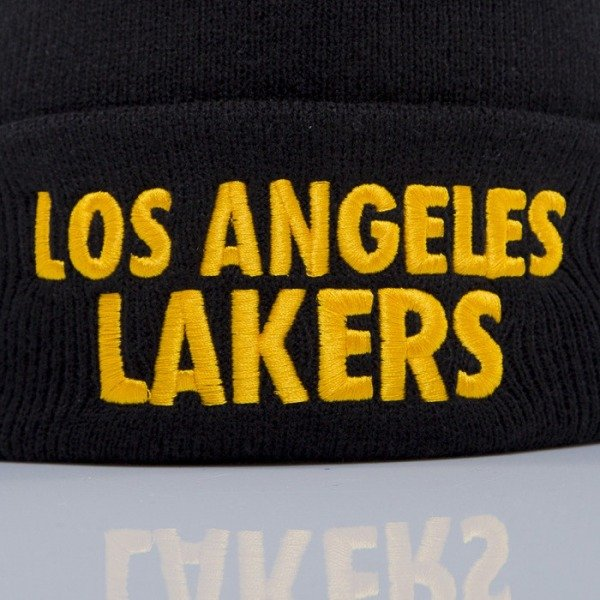 Mitchell & Ness beanie Los Angeles Lakers black Headline EU253